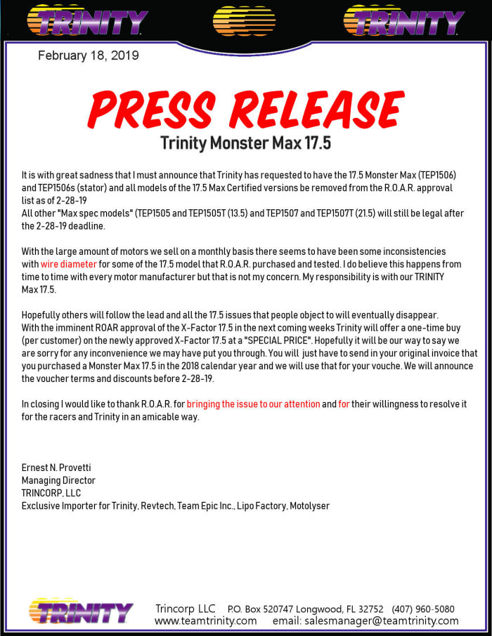 Monster MAX 17.5t Press Release