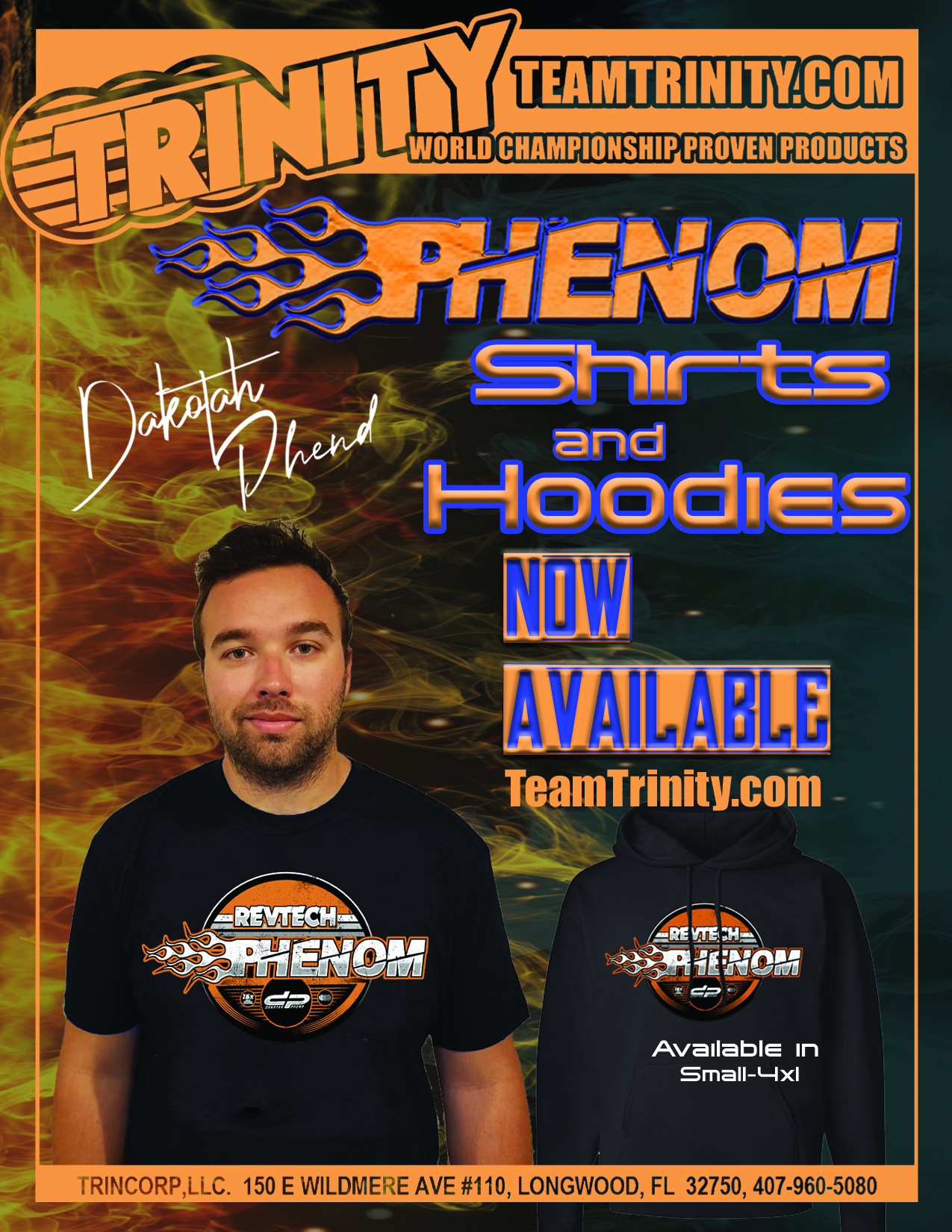 Phenom Shirts and Hoodies NOW AVAILABLE!!!