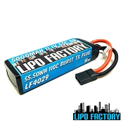 3S 11.1v 5000mah 55C Lipo Pack 110C Burst with TRX Plug
