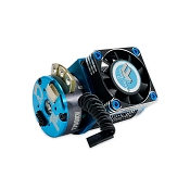 D8.5 Aluminum Motor Cooling fan Mount with 40mm Aluminum Fan (Blue)