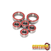 B6 Series, B5M, 22 4.0/5.0, YZ2 Certified Red Seal Ceramic Gearbox Bearing Set (6)