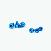 X-Factor (6pc) Aluminum Screw Kit (Blue)