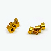X-Factor (6pc) Aluminum Screw Kit (Gold)