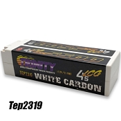 White Carbon 5500 LCG 14.8v  4S 1/8 E-Buggy Pack with 5MM Bullets