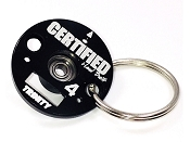 Trinity D4 Certified Timing End Plate Key Chain
