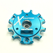 X-Factor End Plate with Bearing (Blue)