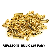Certified Adjustable 5mm Pure Copper Gold Plated Bullet Connectors BULK (25 pair)