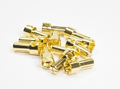 5mm Gold Plated Bullet Connectors (6 pair) Males