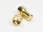 5mm Pure Copper Gold Plated Bullet Connectors (1 pair) Males