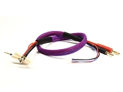 Lightning Charge Lead 4/5mm Bullets with 4mm Charger Plugs (Purple)