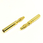 4mm Female to Male Extension Pure Copper Gold Plated Bullet Connectors (1 pair)