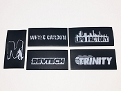 Team Logo Assorted Shrink Wrap for Cable Management Black (5pcs)