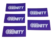Team Logo Shrink Wrap for Cable Management Purple (5pcs)