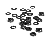 3mm Aluminum Assorted Shim Set (24) (Black)