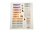 Trinity Monster Horsepower Sticker Sheet 9.5