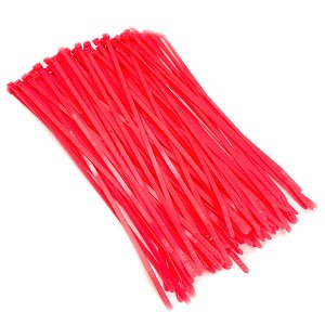 "8.5"" Fluorescent Pink Color 40# Nylon Cable Zip Ties 100pc Bag"