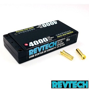 "2S 7.6v 4000mah 55C PRO Lite 156g LCG ""Graphene"" LiHV Pack With 5mm Bullets"