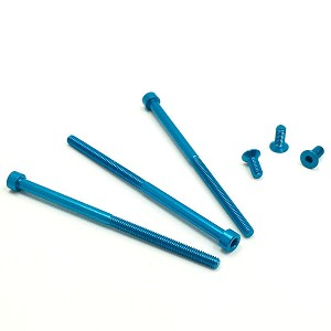 Monster Motor Aluminum Screw Set (6) (Blue)