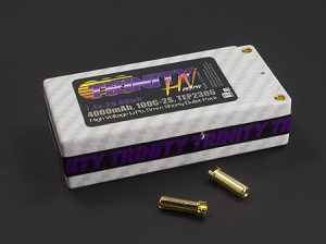 2S 7.4v 4000mah 100C High Voltage Shorty Pack with 5MM Bullets