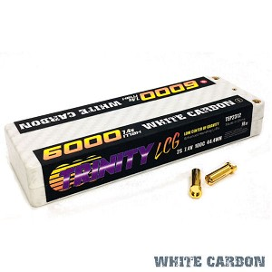 "2S 7.4v 6000mah 100C ""LCG"" Low Center of Gravity LiPo Pack with 5mm Bullets"