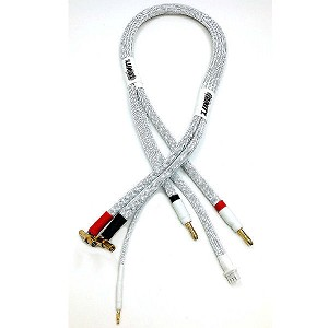 2S Pro Charge Cable with 4/5mm Bullet Connector (White)