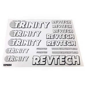Trinity Revtech Sticker Sheet (2) White
