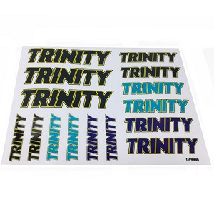 Trinity Retro Sticker Sheet (2) Multi Color